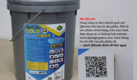 quét mã qr code để truy xuất nguồn gốc dầu nhớt apsp tân hoa mai